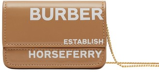 Burberry Horseferry print chain strap cardholder