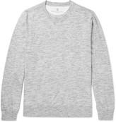 Brunello Cucinelli - Slim-fit Mélange Cotton-jersey T-shirt