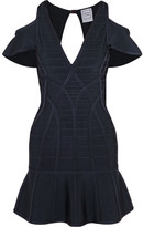 Herve Leger Estelle Cutout Bandage Mini Dress - Indigo