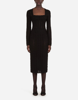 Dolce & Gabbana Long-Sleeved Sheath Dress