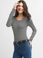 Stripe long sleeve bodysuit.
