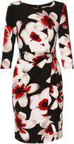 Gina Bacconi Tamara Floral Print Frill Dress