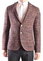 Manuel Ritz Men's Multicolor Wool Blazer.
