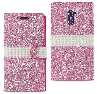 Reiko Wireless Zte Grand X Max 2 Jewelry Rhinestone Wallet Case In Pink