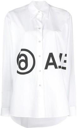 MM6 MAISON MARGIELA logo printed shirt