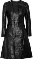 Alexander Wang Textured-leather coat