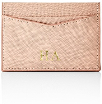 Ha Designs Personalised Initial Blush Card Holder