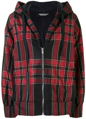 Undercover Hooded Plaid Jacket