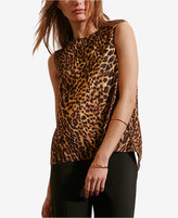 Lauren Ralph Lauren Petite Asymmetrical-Back Crepe Tank Top