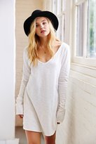 Truly Madly Deeply Textured V-Neck Tunic Top