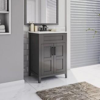 "Twin Star Home Freestanding 24"" Single Bathroom Vanity Set Twin Star Home Base Finish: Huron Gray"
