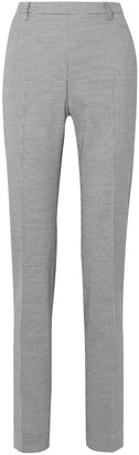 Tomas Maier Pepita Houndstooth Stretch-wool And Cotton-blend Slim-leg Pants