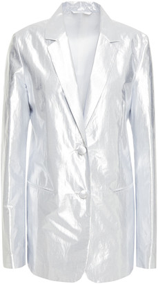 Helmut Lang Metallic Coated Cotton-blend Blazer