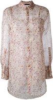 Calvin Klein Collection sheer floral shirt - women - Silk - 38