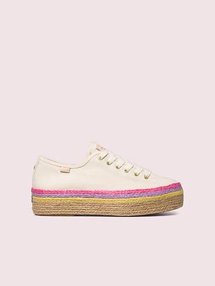 Kate Spade Keds X Neon Raffia Platform Sneakers