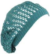 Loose Knit Crochet Beret