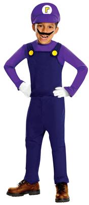 Toddler/Boy's Super Mario Bros. - Waluigi Deluxe Costume