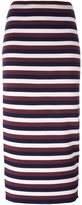 Victoria Beckham striped knitted skirt