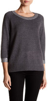 Three Dots Paige Metallic Knit Sweater