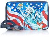 Sharif Handpainted Leather Smartphone Wallet Wristlet