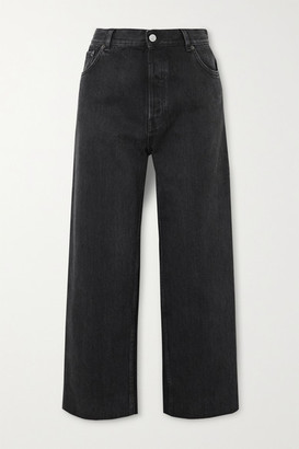 Balenciaga Tube Cropped Low-rise Straight-leg Jeans - Black