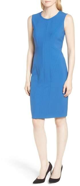 BOSS Dajil Seamed Ponte Sheath Dress (Regular & Petite)