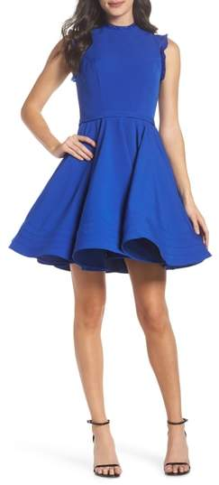 Mac Duggal Embellished Ruffle Fit & Flare Dress