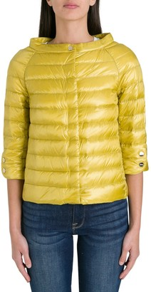 Herno Cropped Sleeve Down Jacket