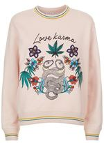 Sandro Leaf Love Karma Sweatshirt