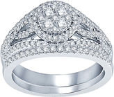 Nicole Miller Nicole By 1 CT. T.W. Diamond 14K White Gold Bridal Set