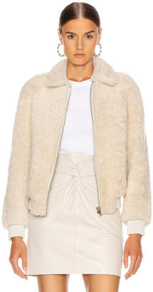 Isabel Marant Salvia Shearling Jacket in Ecru | FWRD