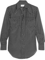 Saint Laurent Polka-dot Cotton And Silk-blend Shirt - Black