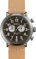 Shinola 47mm Runwell Chronograph Watch, Brown