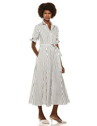 Calvin Klein Women's Short Sleeve Long Shirt Dress with Self Belt