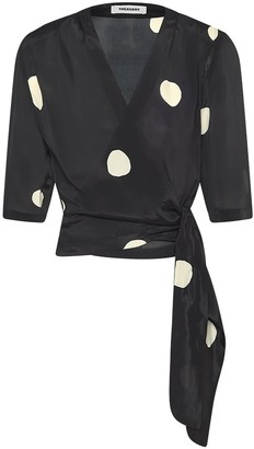 Theavant Wrap Blouse With Oversized Polka-Dots
