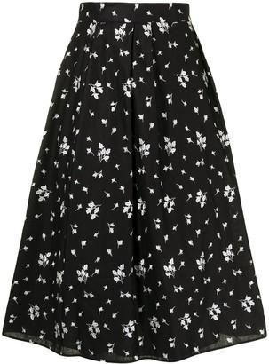 Erdem Reed floral-print midi skirt