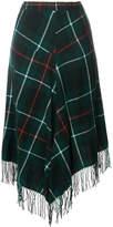 Y's checked tassel detail skirt