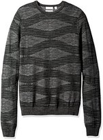 Calvin Klein Men's Merino Plaited Texture Crew Neck Sweater