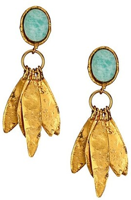 Sylvia Toledano Artsy 24K Goldplated & Amazonite Drop Earrings