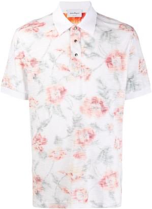 Salvatore Ferragamo Floral-Print Polo Shirt
