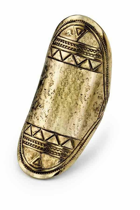 Low Luv x Erin Wasson by Erin Wasson Aztec Finger Ring in Gold