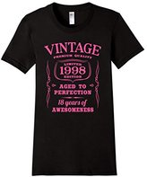 Women's 18th Birthday Gift Shirt Limited 1998 Edition Pink (Fitted) XL