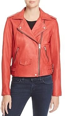 Andrew Marc AM82 Weslyn Leather Moto Jacket
