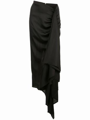 Paula Knorr Asymmetric Draped Midi Skirt