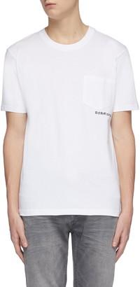 Denham Jeans 'Whitlow' floral print back pocket T-shirt