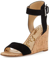 Sam Edelman Willow Suede Cork Wedge Sandal