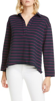 Frank And Eileen Stripe V-Neck Top