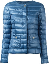 Herno collarless down jacket - women - Cotton/Feather Down/Polyamide/Acetate - 42