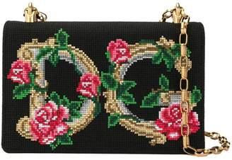 Dolce & Gabbana logo floral embroidered bag
