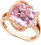 Effy Gemma by Pink Amethyst (7-3/4 ct. t.w.) and Diamond (3/8 ct. t.w.) in 14k Rose Gold